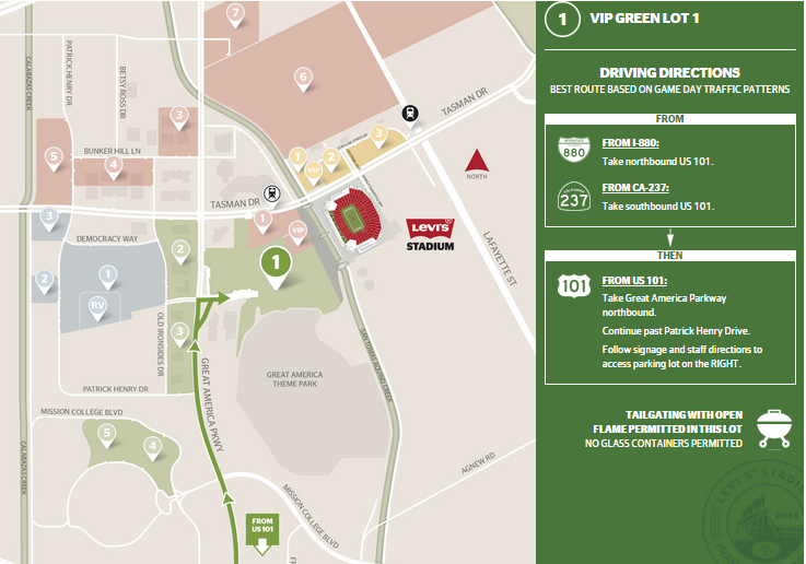 49ers PARKING pes for main lot on packers parking map, football parking map, rockets parking map, rays parking map, cowboys parking map, atlanta parking map, nationals parking map, redskins parking map, san francisco parking map, bulls parking map, new england patriots parking map, jets parking map, michigan parking map, dodgers parking map, bills parking map, browns parking map, oakland parking map, cubs parking map, penguins parking map, pittsburgh parking map,