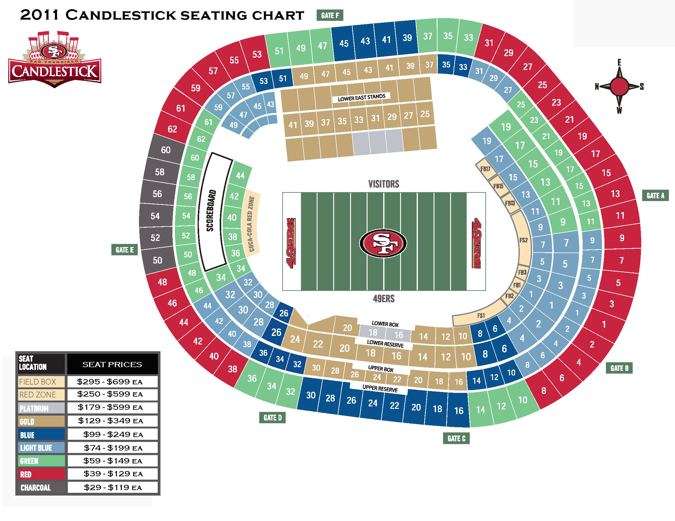 49ers parking passes for main lot